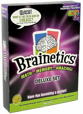 Brainetics Math Memory Amazing Deluxe 7 DVD Set Mike Byster RRP $195