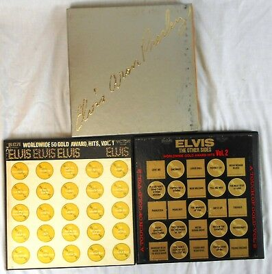 Lot of 3 Elvis Presley Boxed (Box) Sets