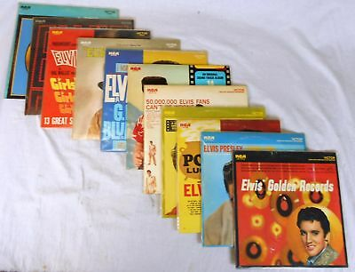 Lot of 11 Elvis Presley Records (LPs) on RCA Victor