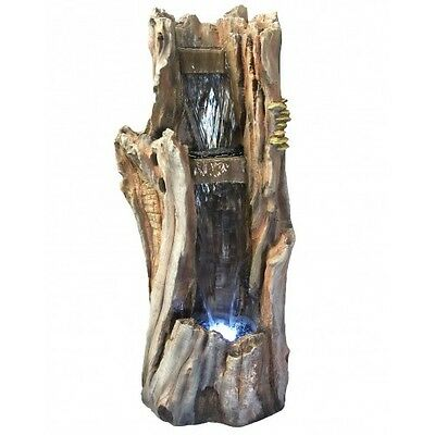 98cm Tree bark Fountains Fountain Water Feature Home Decor Garden Ponds