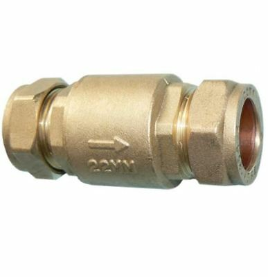 22mm Full Flow Spring Check Valve - Pack of 2