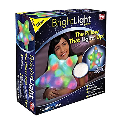 Twinkling Star Soft and Cuddly Pillow with Automatic Off Switch 24 LED Lights