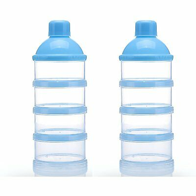OrangeTag Non-Spill Baby Milk Powder Dispenser / Storage Container, Blue 2pcs