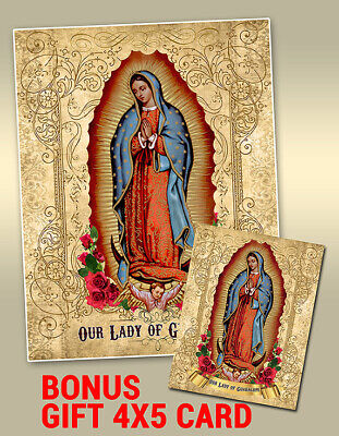 OUR LADY OF GUADALUPE 8x10 Virgin Mary Custom Catholic Art Picture Print Mexico