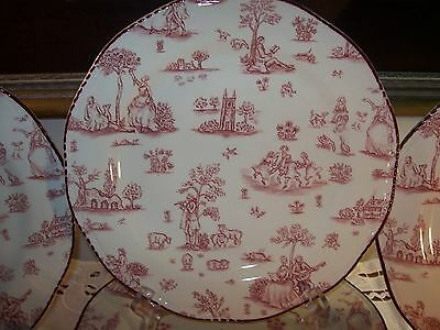 Wood & Sons Toille de Joile Pink (Scalloped)  Fine China Dinner Plate