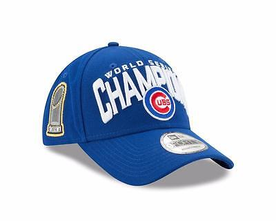 Genuine Chicago Cubs New Era MLB Champions 9FORTY Curve Snapback Hat - Blue