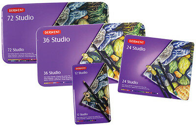 Pencil Coloured Derwent Studio Tin 72(Each)