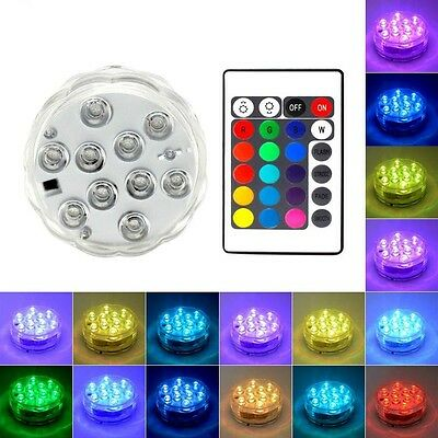 4pcs Underwater LED Lights Battery Operated IP67 Waterproof Swimming Pool Light