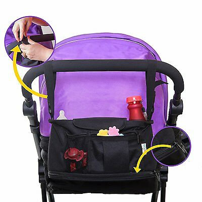Stroller Organizer, Parent Console Bags for Baby Pram and Toddler Car Seats,