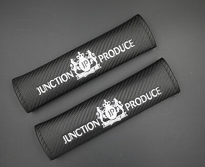 2 Junction Produce Carbon Fiber Car Seat Belt Cover Shoulder Pad 049 AU Shipping