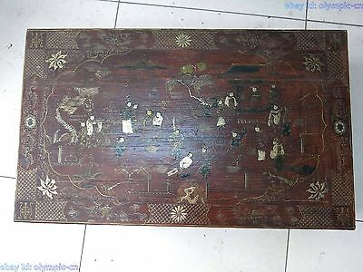 China wood handwork lacquerware nobleman spring outing tea table Sculpture