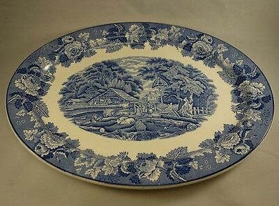 Wood & Sons ENGLISH SCENERY BLUE Platter 14 3/8""