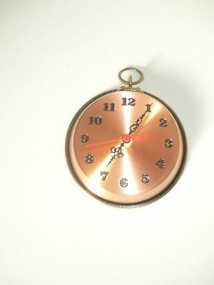 Wall Clock Copper Polished Pan Pot Small Size