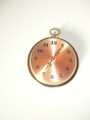 Wall clock copper polished pan pot size: small