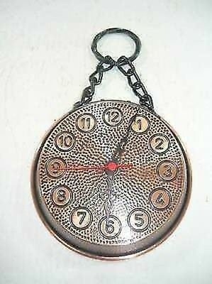 Wall clock copper burnished pan pot