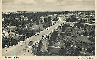 Luxembourg Pont Adolphe - Tramways