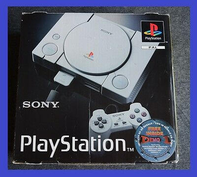 Sony Playstation 1 one Grey Console rare  SCPH-1002 boxed + game