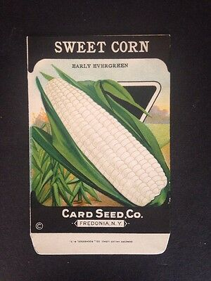 1930s Litho Antique Vintage Seed Packet Sweet Corn Early Ever Card Seed Co. Pack