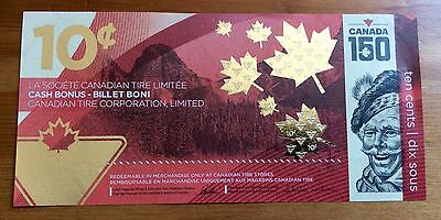 2017 CANADIAN TIRE BANK NOTE 10 ¢ CANADA 150th CELEBRATION - No Tax