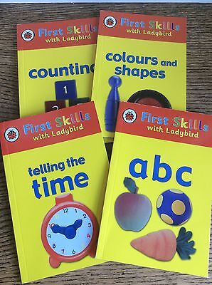 First Skills With Ladybird Time, Colours Shapes Counting ABC