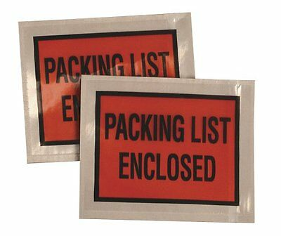 Quality Park Poly Packing List Envelopes with Full Print Front, 4.5 x 5.5 Clear,