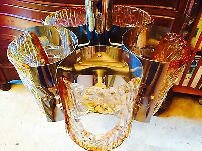 Bellissimo Lampadario Chandelier Mazzega Design '70 Space Age Made In Italy