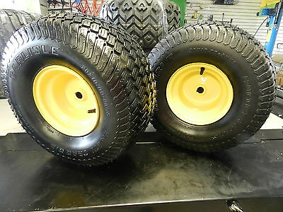 NEW set TWO Rear Tire AND Wheel John Deere for X310 OEM 20.00x10-8 NEW 20x10-8