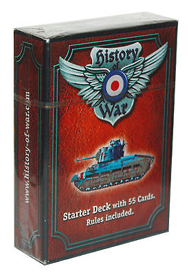 HISTORY OF WAR-Starter Deck with 55 Card-with Rules included-new #4260061720149