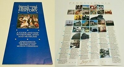 1991 PENNSYLVANIA TRAIL OF HISTORY - A Guide & Map to Historic Sites And Museums