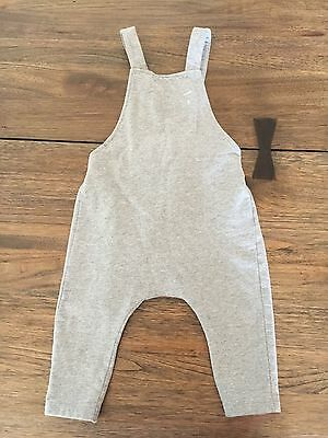 Grey label baby Salopette loose overall in Grey Melange 12-18 month