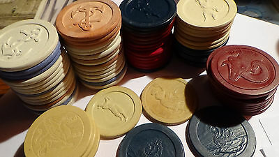 80 ( Anchor / Plane / Ship / Bike ) Crest Seal Vintage Clay Chip S Casino Nv Lot