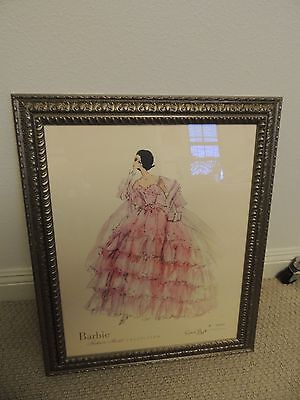 Robert Best Barbie In the Pink Framed, COA, Signed Numbered Limited