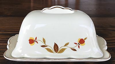 Hall Jewel Tea AUTUMN LEAF 1 lb. ONE POUND Covered Butter Dish NICE
