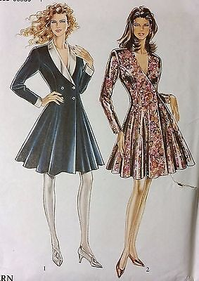 Vintage SIMPLICITY Sewing Pattern ~LOVELY FLARE RETRO DRESS 8 10 12 14 16 18
