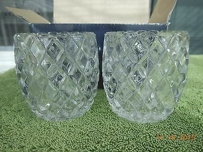 Partylite Gifts Diamond Cut Votives,Set/2,New/old stock,In box.