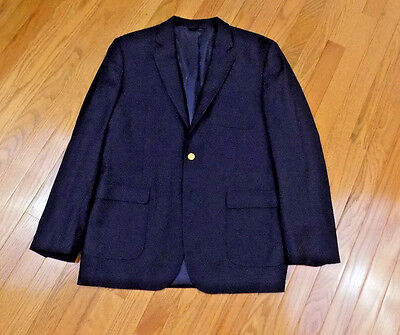 Brooks Brother Staple Patch Pocket Navy Blazer Sportcoat Loro Piana Fabric SZ 20