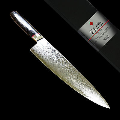 JAPANESE 33 Layers Damascus VG10 Chefs Knife 200 mm Gyuto Chef Knives SAIUN