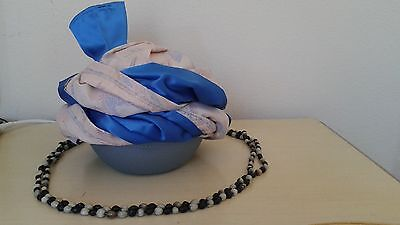 Native American Cherokee Style Turban, Powwow Regalia, Sequoyah + Necklace