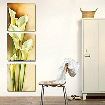 [Framed] Yellow Calla Lily Flower Modern Art Canvas Painting Prints Wall Decor