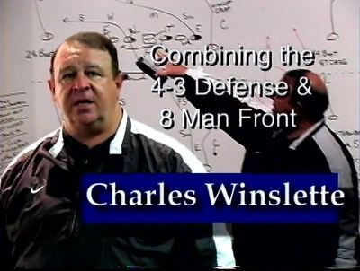 Football Coaching DVD -- Combining The 4-3 Defense and 8 Man Front -- Winslette