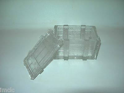 1908 RARE Vintage Portieux Vallerysthal~PATTERN GLASS SARDINE CRATE BOX~Detailed