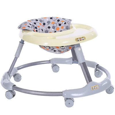 Baby Walker First Steps Activity Bouncer Musical Toy Push Along Ride On Round