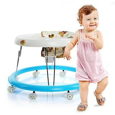 Baby Walker Anti-Rollover Foldable Infant Chair Toddler First Steps round
