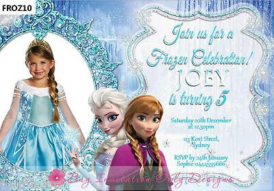 Personalised Disney FROZEN Birthday Invitations Elsa Anna