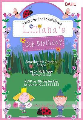 Personalised Ben Holly Little Kingdom Birthday Invitations Invites