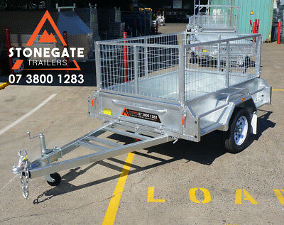 7x4 Cage Box Trailer | Hot Dipped Galvanized | Rust Free | Tilt | Brisbane