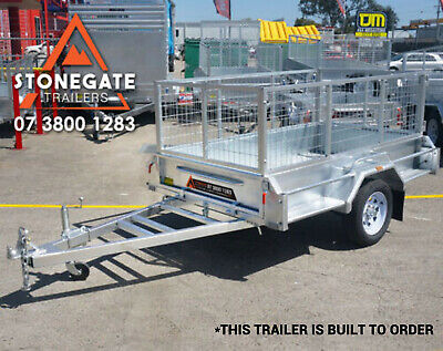 7x4 Cage Trailer Hot Dip Galvanized Box Trailer Fully Welded Tilt Brisbane Qld