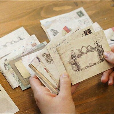 24pcs  Envelopes Mini Vintage Retro Korean Style Airmail Brown Kraft Paper Gift