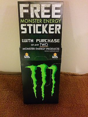 """Box of Approximately 100 Monster Energy Claw Logo Stickers 4"""" Reduced to sell"""