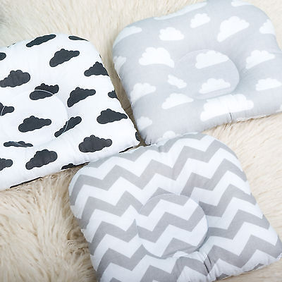 Newborn Baby Infant Soft Cotton Pillow Anti Roll Prevent Flat Head Support Neck